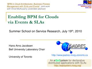 Enabling BPM for Clouds
