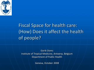 Fiscal Space for health care: (How) Does it affect the health of people?
