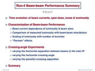Run-4 Beam-beam Performance Summary