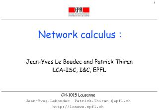 Network calculus :