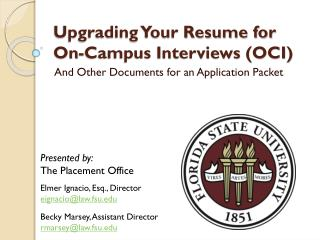 Upgrading Your Resume for On-Campus Interviews (OCI)