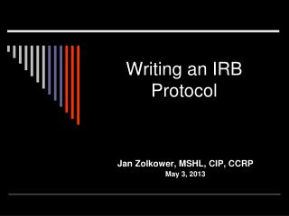 Writing an IRB Protocol