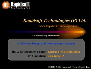 A  Software Design and Development Company
