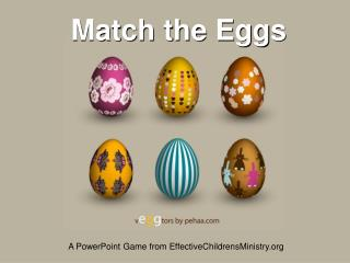 Match the Eggs