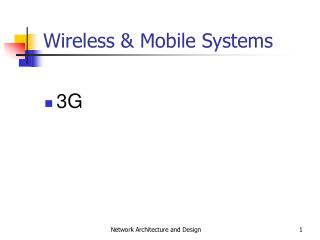 Wireless & Mobile Systems