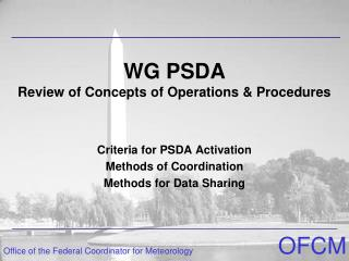 WG PSDA  Review of Concepts of Operations & Procedures