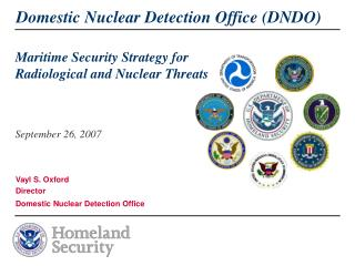 Maritime Security Strategy for Radiological and Nuclear Threats