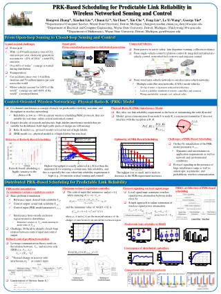 PRK-Based Scheduling for Predictable Link Reliability in Wireless Networked Sensing and Control
