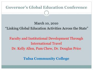 Governor's Global Education Conference