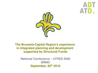 The  Brussels-Capital  Region's  experience  in  integrated  planning and development