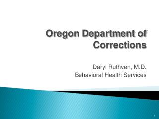 Oregon Department of Corrections