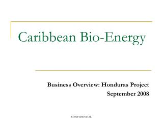 Caribbean Bio-Energy