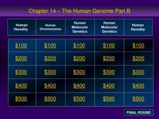 Chapter 14 – The Human Genome Part B