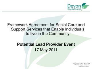 Potential Lead Provider Event