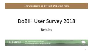 DoBIH User Survey 2018