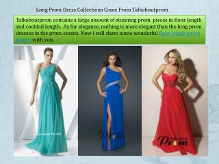Long Prom Dresses Collections from Talkaboutprom