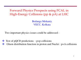 Forward Physics Prospects using FCAL in High-Energy Collisions (pp & pA) at LHC