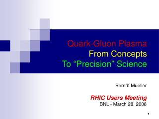 "Quark-Gluon Plasma From Concepts To ""Precision"" Science"