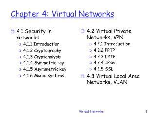 Chapter 4: Virtual Networks