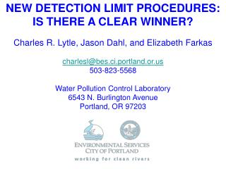NEW DETECTION LIMIT PROCEDURES: IS THERE A CLEAR WINNER?