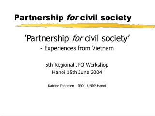 Partnership  for  civil society