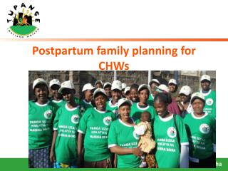 Postpartum family planning for CHWs