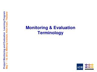 Monitoring & Evaluation Terminology