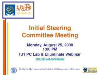Initial Steering  Committee Meeting