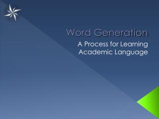 Word Generation