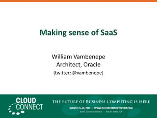 Making sense of SaaS