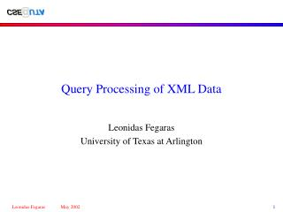 Query Processing of XML Data