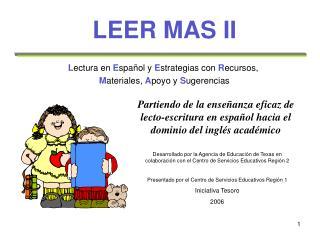 LEER MAS II
