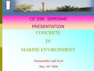 CONCRETE  IN  MARINE ENVIRONMENT