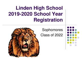 Linden High School 2019-2020 School Year Registration