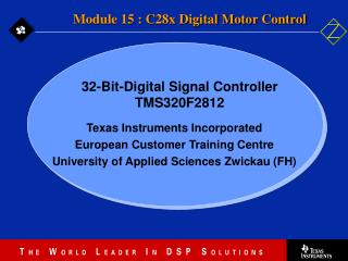 Texas Instruments Incorporated European Customer Training Centre