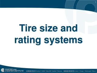 Tire size and rating systems
