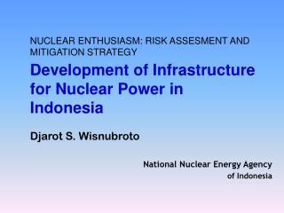 NUCLEAR ENTHUSIASM: RISK ASSESMENT AND MITIGATION STRATEGY