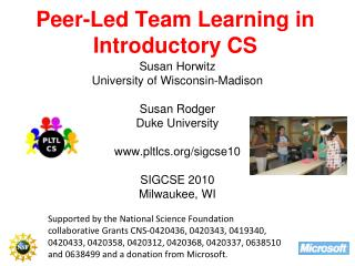 Peer-Led Team Learning in Introductory CS
