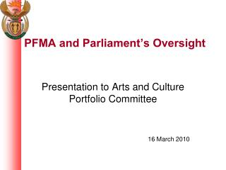 PFMA and Parliament's Oversight