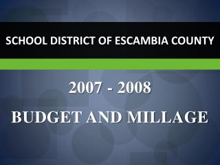 SCHOOL DISTRICT OF ESCAMBIA COUNTY