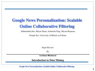 Google News Personalization: Scalable Online Collaborative Filtering