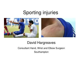 Sporting injuries
