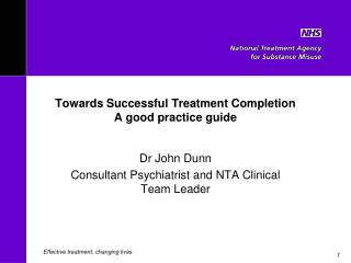 Towards Successful Treatment Completion  A good practice guide