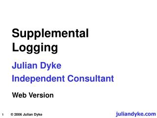 Supplemental Logging