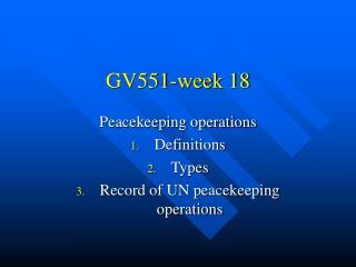 GV551-week 18