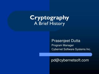 Cryptography A Brief History