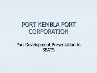 PORT KEMBLA PORT CORPORATION