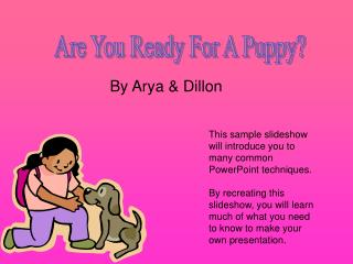 Are You Ready For A Puppy?