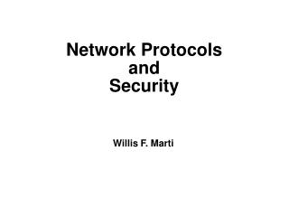 Network Protocols and Security