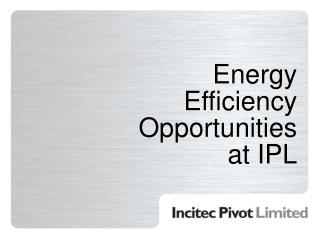 Energy Efficiency Opportunities at IPL